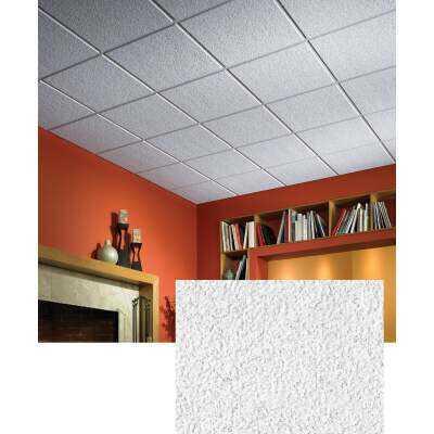 Luna ClimaPlus 2 Ft. x 2 Ft. White Mineral Fiber Suspended Ceiling Tile (12-Count)