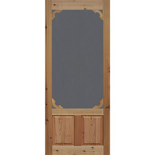 Snavely Kimberly Bay 36 In. W. x 80 In. H. x 1-3/8 In. Thick Natural Cedar Wood Woodland Screen Door
