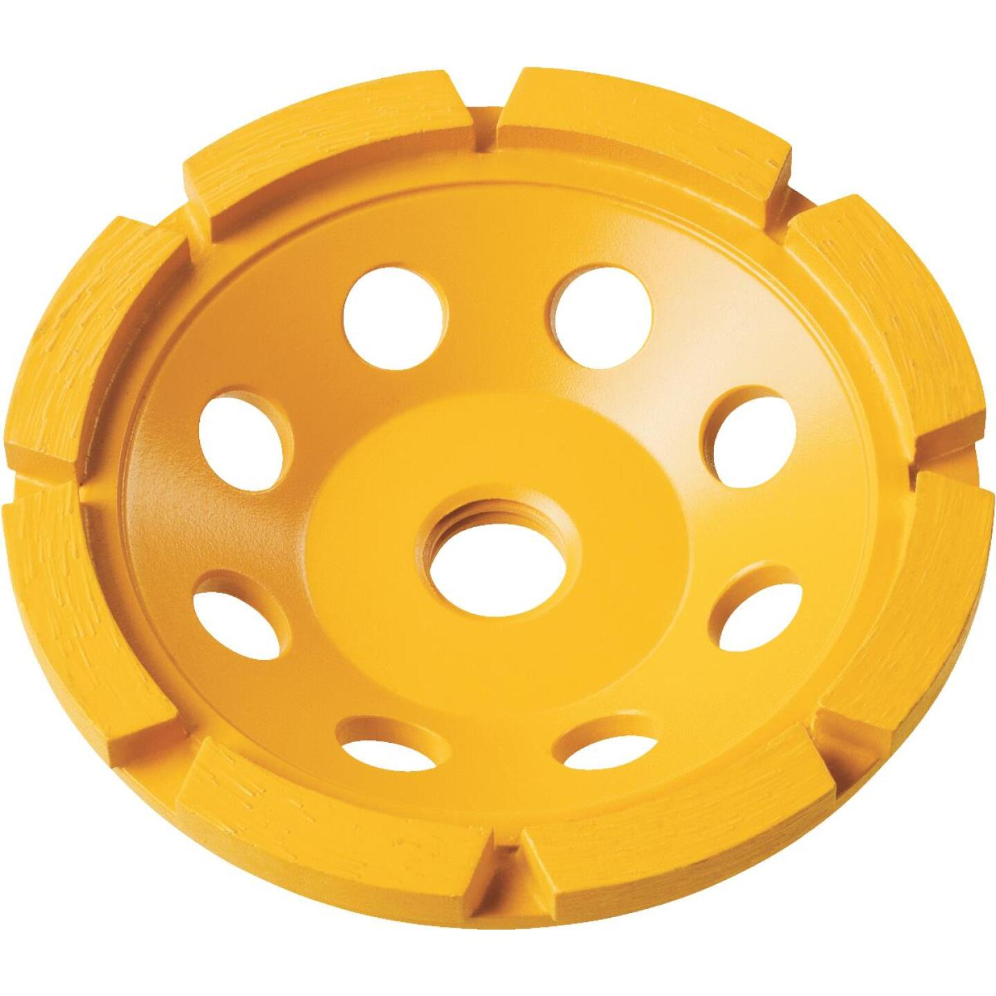 DeWalt 4 In. Single Row Diamond Cup Wheel Image 1