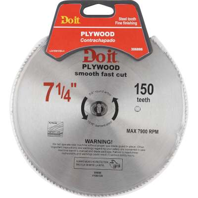 Do it 7-1/4 In. 150-Tooth Plywood Circular Saw Blade