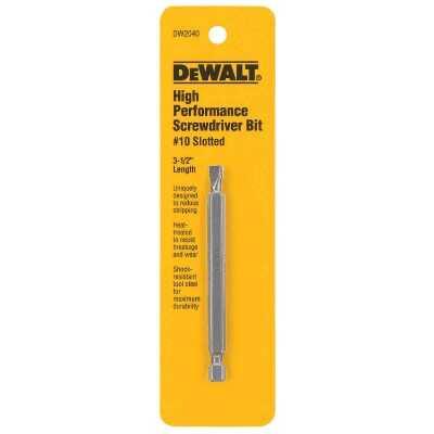 DeWalt Slotted #10 3-1/2 In. 1/4 In. Power Screwdriver Bit