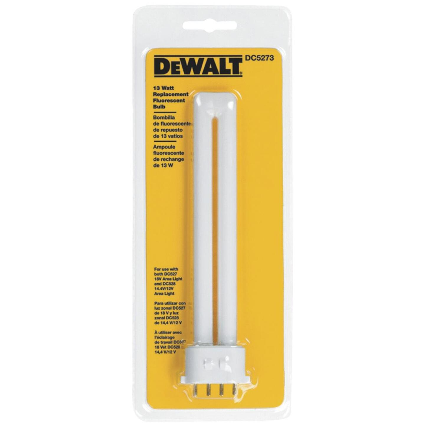 DeWalt 13W Fluorescent Replacement Flashlight Bulb Image 1