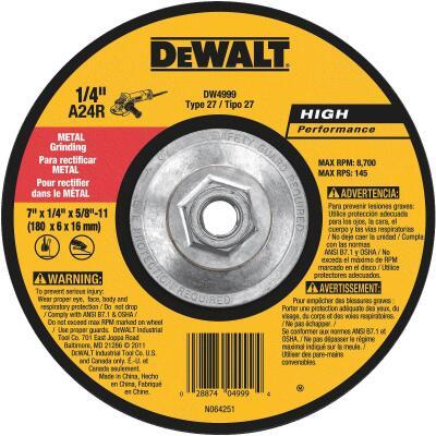 DeWalt HP Type 27, 7 In. Cut-Off Wheel