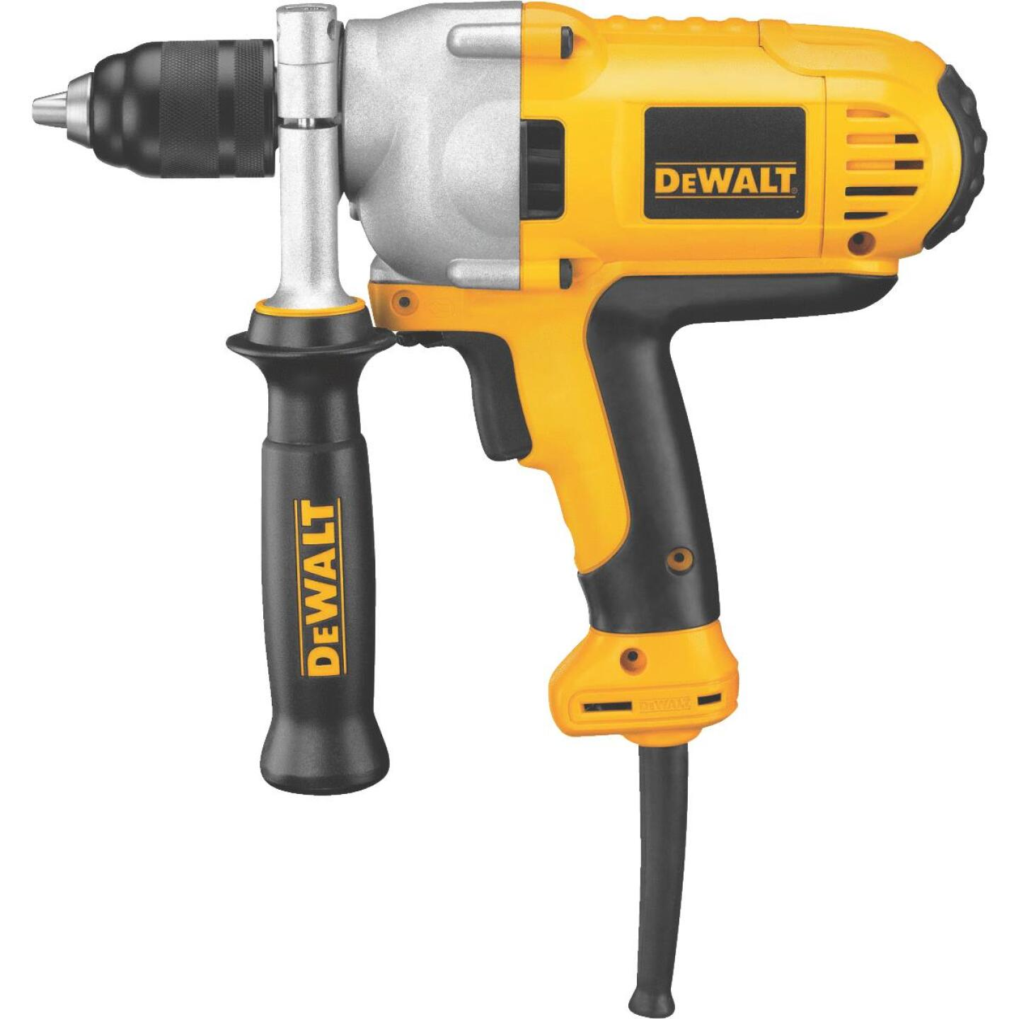 DeWalt 1/2 In. 10-Amp Keyless Electric Drill with Mid-Handle Grip Image 1