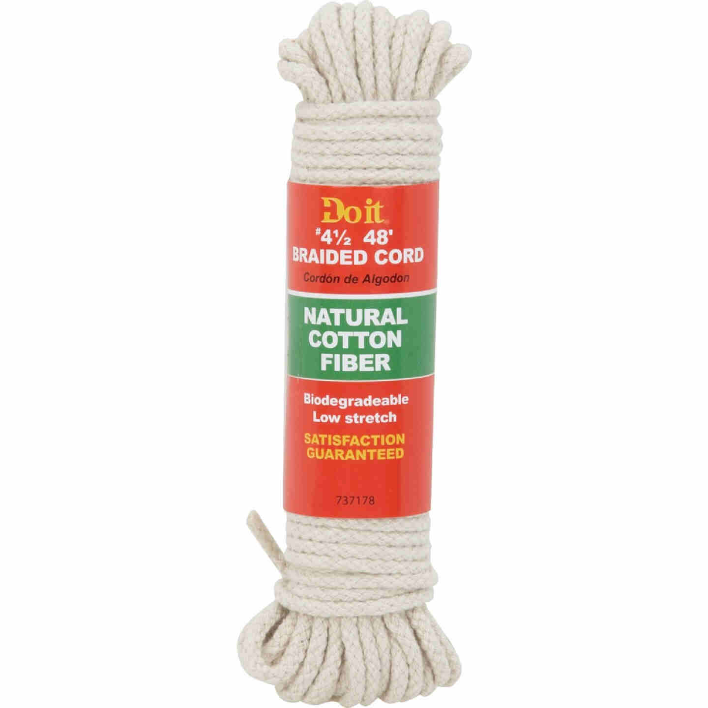 Do it 9/64 In. x 48 Ft. Natural Braided Cotton Cord Image 1