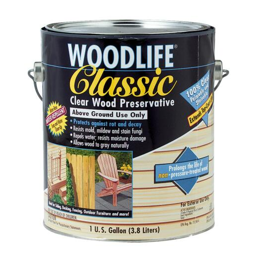 Rust-Oleum Woodlife Clear Water-Based Classic Wood Preservative, 1 Gal.