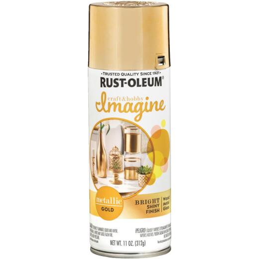 Rust-Oleum 11 Oz. Gold Imagine Metallic Spray Paint