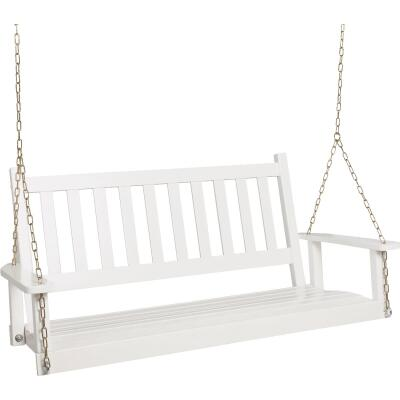 Jack Post Knollwood Collection 54 In. W. x 24-1/2 In. H. x 19-1/2 In. D White Wood Porch Swing