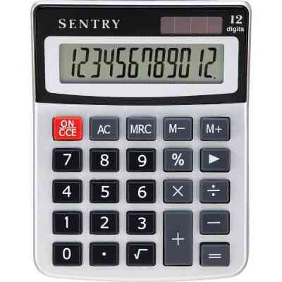 Sentry Jumbo Key Auto-Off 10-Digit Mini Desk Calculator